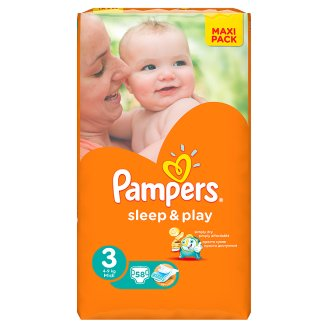 Pleny Pampers sleep&play 3 midi 58ks 5-9kg