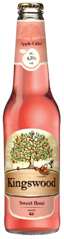 Kingswood  Rose 0.4l sklo 4,5%