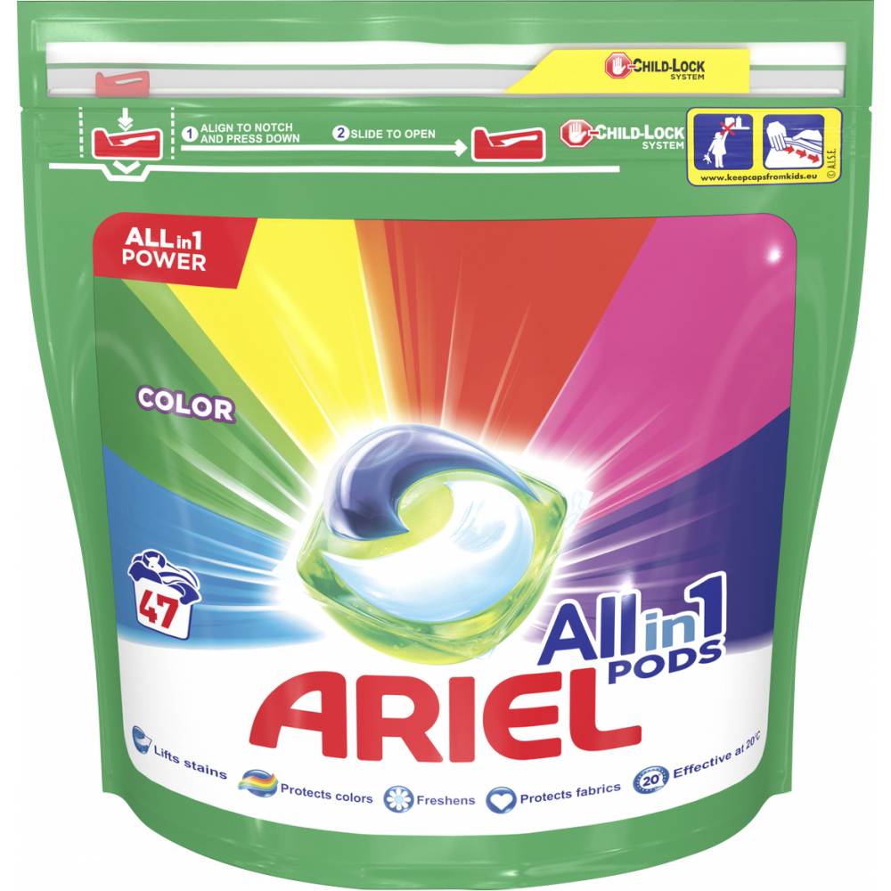 Ariel Color Allin1 tablety 47dávek