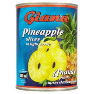 Ananas plátky 580ml Giana