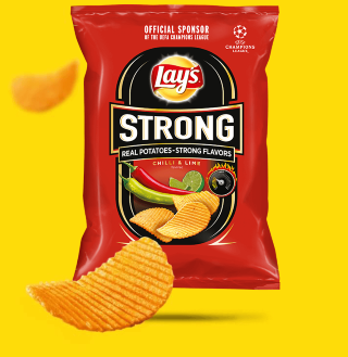 Lays strong chilli a lime 65g