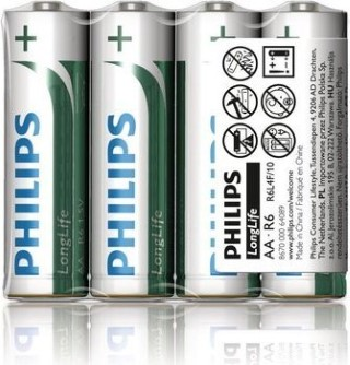 E- Baterie Longlife AA/4 ks Philips