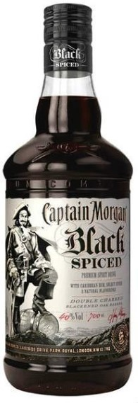 Captain Morgan Black Spiced Rum 40% 1l