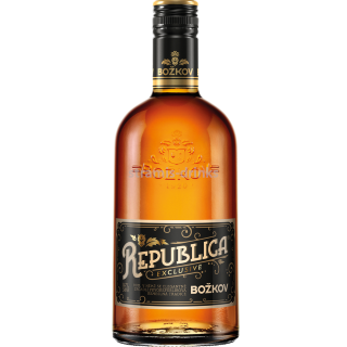 Božkov Republica Exclusive Rum 38% 0.7l