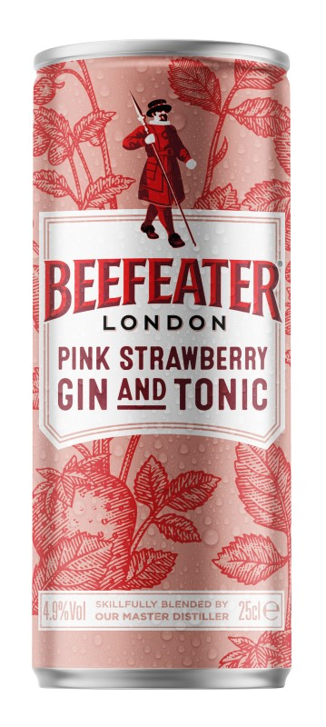 Beefeater Gin Pink & Tonic 0,25l plech 4,9%